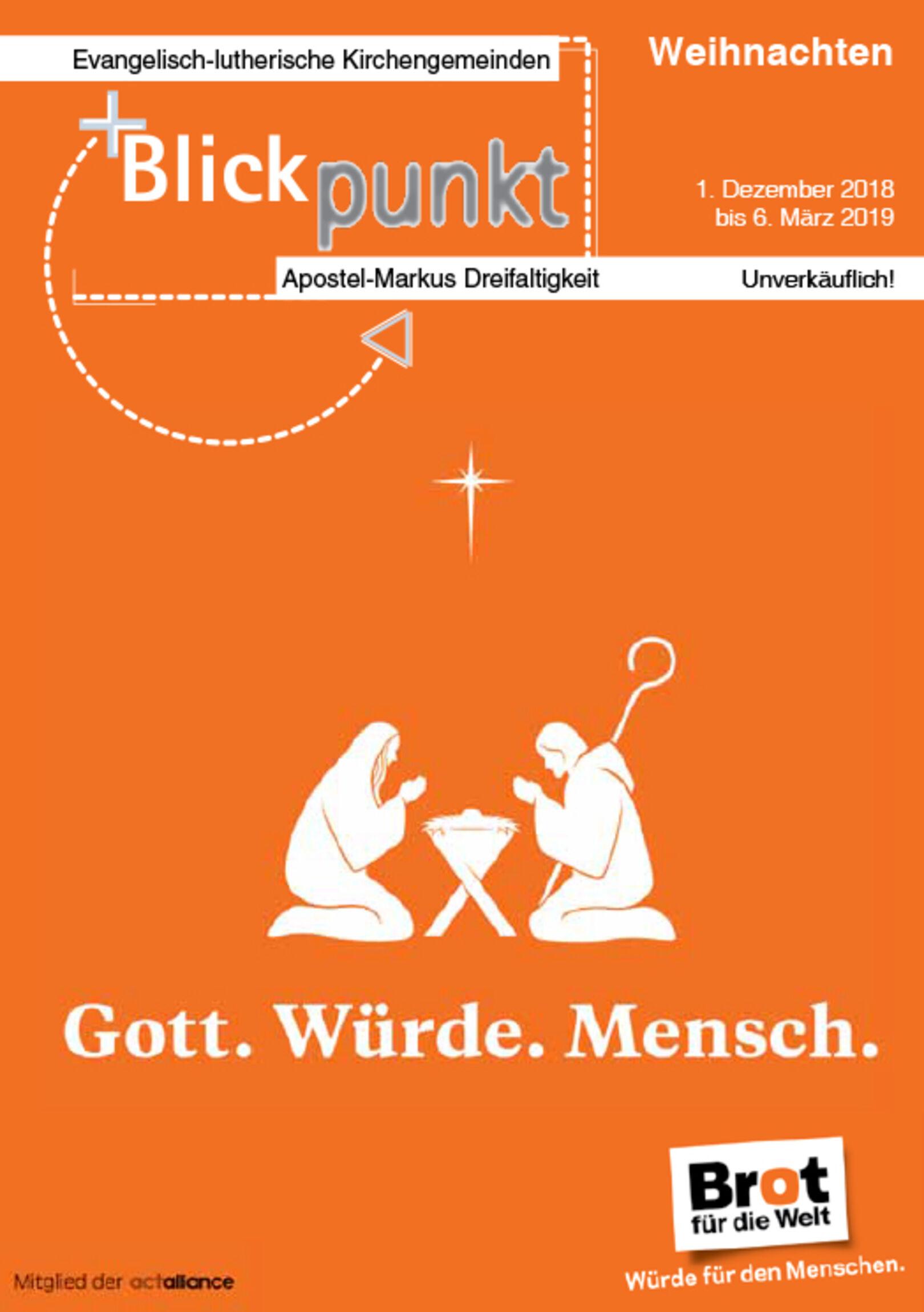Konzerte Weihnachten 2019.Apostel Und Markus Gemeinde Hannover Der Neue Blickpunkt Ist